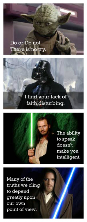 Star Wars Inspirational Quotes ~ My Favorite Star Wars Quotes | The ...