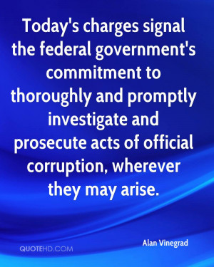 Today's charges signal the federal government's commitment to ...
