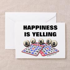 Funny Bingo Quotes Greeting Cards
