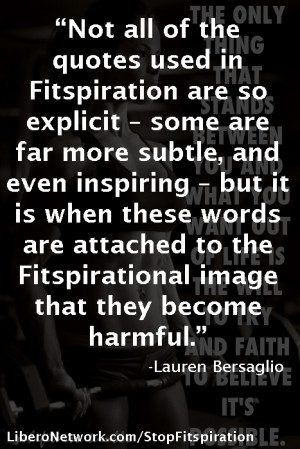 Stop Fitspiration – not all quotes are harmful