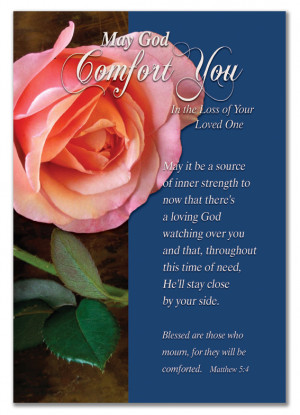 CHRISTIAN SYMPATHY CARDS - May God Comfort You - With Christian