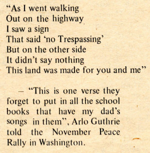 Arlo Guthrie speaks on the Woody Guthrie whitewash.