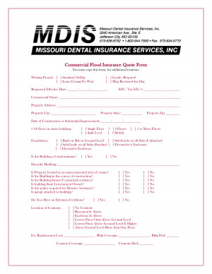 commercial insurance quote form pdf