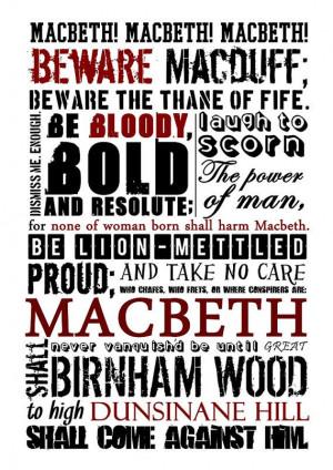 Macbeth PosterPosters Quotes, Macbeth Quotes, Shakespeare Quotes ...