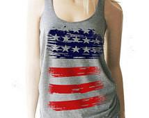 American Flag Tank. Red White & Blu e Tank. Patriotic Tank. Patriotic ...