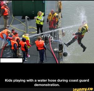 Coast guard demonstration gone wrong