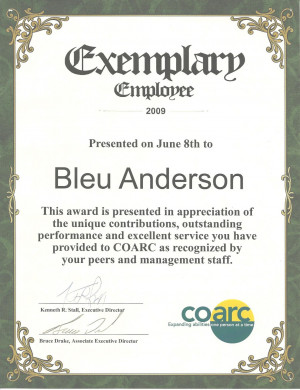 your 4th anniversary with coarc your organizational skills are ...