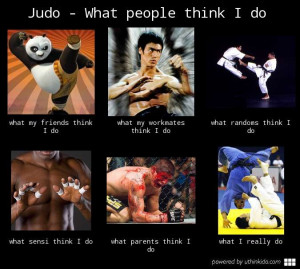 Judo – What People Think I Do