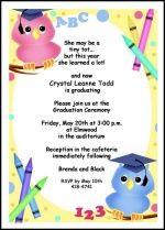 Kindergarten graduation invitation and cake ideas