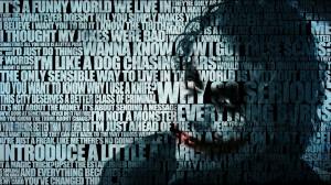 Batman, quotes ,The Joker, typography