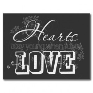 Hearts Full of Love Quote Postcards