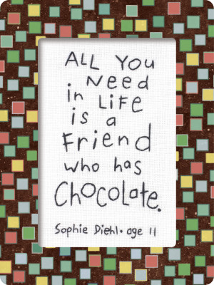 Chocolate Quotes About Friends
