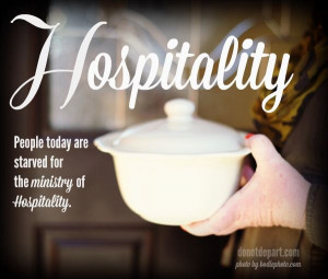 Hospitality as one of the spiritual gifts