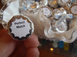 The Hershey kisses had a lot of different sayings on the back - our ...