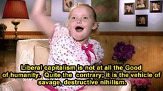 ... Honey Boo Boo with really dark existential quotes. The result is
