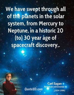 swept through all of the planets in the solar system, from Mercury ...