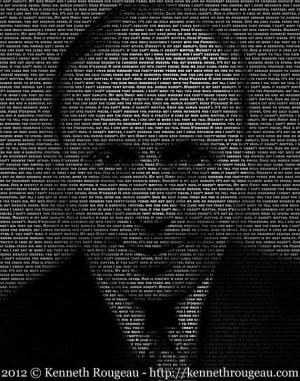 Jack Benny - 11x14 Typographical Portrait Fine Art Print