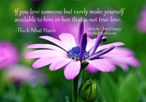 Thich nhat hanh quotes true love quotes if you love someone but rarely ...