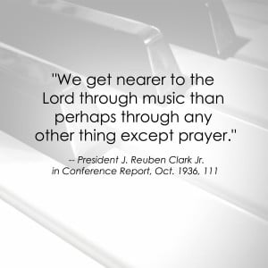 firmly believe this is true. Singing hymns in church helps me ...