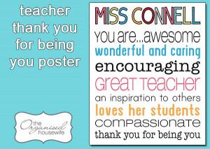 Teacher Appreciation Quotes From Kids Teacher classroom rules poster