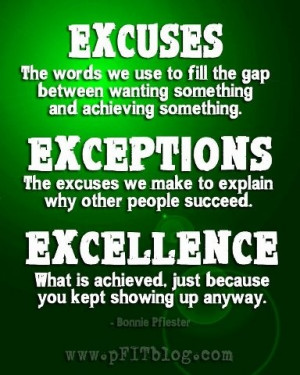 STRIVE FOR EXCELLENCE!