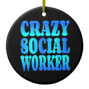 Crazy Social Worker Double-Sided Ceramic Round Christmas Ornament
