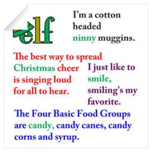 CafePress > Wall Art > Wall Decals > Elf the Movie Quotes Wall Decal