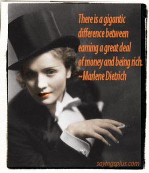 Marlene Dietrich Quotes and Sayings