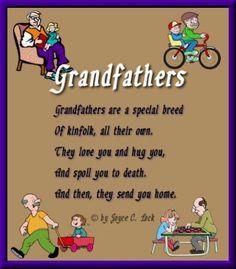 ... program menu grandpa poem grandpa sayings grandma grandparents quotes