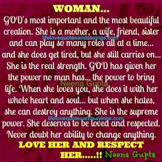 WOMAN…GOD's most important and the most beautiful creation ...