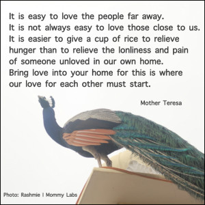 Mother Teresa quotes bring love into your home Mommy Labs photography