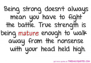 Famous Quotes About Being Strong. QuotesGram