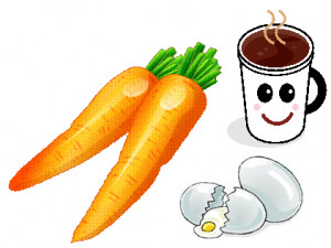 Carrot, Egg and Coffee...