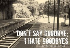Quotes Quote Quotation Quotations Don't Say Goodbye I Hate Goodbye ...