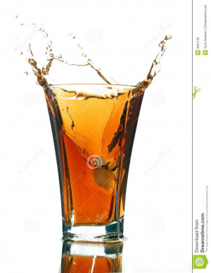 Soft Drink Splash Isolated...