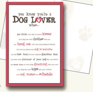 Dog Christmas Cards Sayings You know you're a dog lover