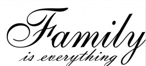 Family-is-Everything-Cursive-vinyl-wall-decal-quote-sticker-decor ...