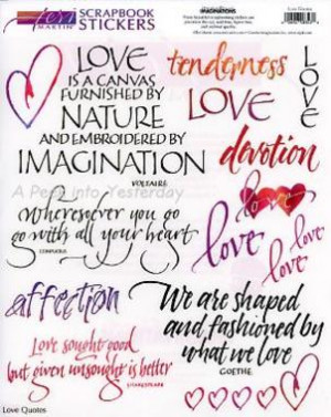 ... - Love Quotes - Teri Martin Clear Stickers Scrapbooking Supplies