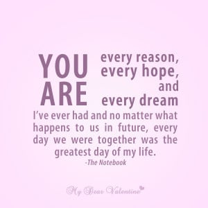 sweet love quotes you are every reason
