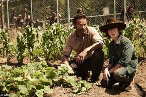New beginnings: Carl and Rick tend to a new vegetable garden