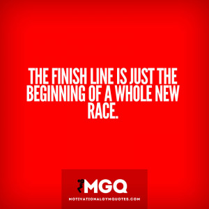 The finish line...
