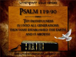 LinksterArt Bible Verses: Psalm 119:90