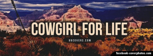 Cowgirl For Life Cover Photo