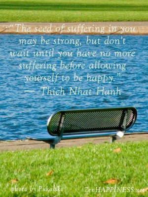 Suffering and happiness quotes by thich nhat hanh the seed of ...