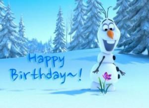 disneys frozen happy birthday happy birthday olaf happy birthday ...