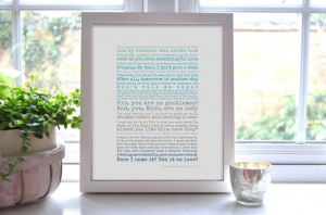 Gone With The Wind Quotes Art Print by PocketFullofPosies10, £15.00