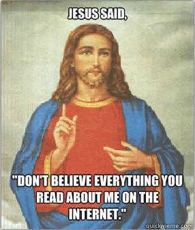 Jesus' Advice for Internet Users