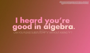 Math Quote: I Heard You're Good In Algebra