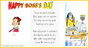 Boss Day Poems
