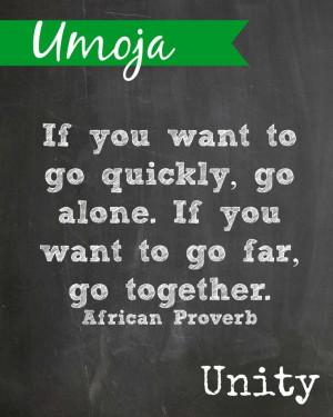 Kwanzaa printable. Umoja means Unity | Quotes | Pinterest